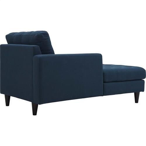 Empress Left-Arm Upholstered Fabric Chaise in Azure