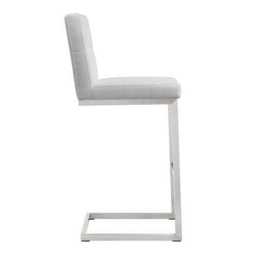 Tov Furniture - Helsinki White Steel Barstool (Set of 2)