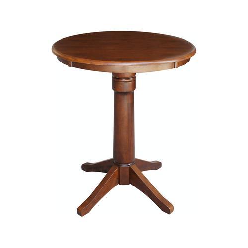 """30"""" Pedestal Table in Espresso"""