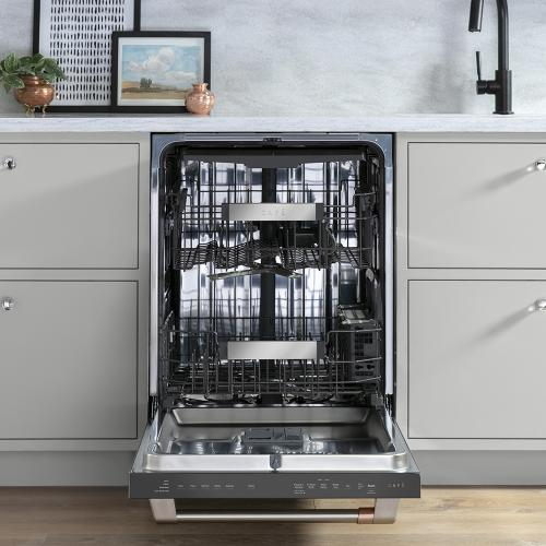 Café Stainless Steel Interior Built-In Dishwasher with Hidden Controls Stainless Steel