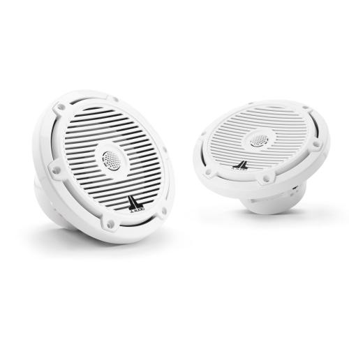 JL Audio - 6.5-inch (165 mm) Marine Coaxial Speakers, Gloss White Classic Grilles