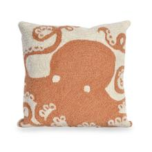 View Product - Liora Manne Frontporch Octopus Indoor/Outdoor Pillow Coral
