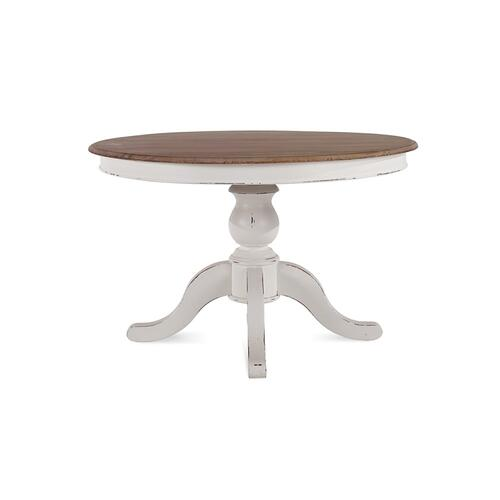 Farmhouse Round Pedestal Table