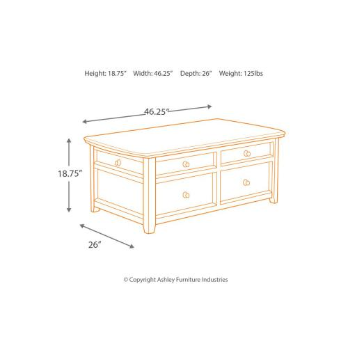 Signature Design By Ashley - Lift Top Cocktail Table