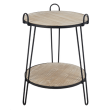 Two Tiered Side Table with Handles