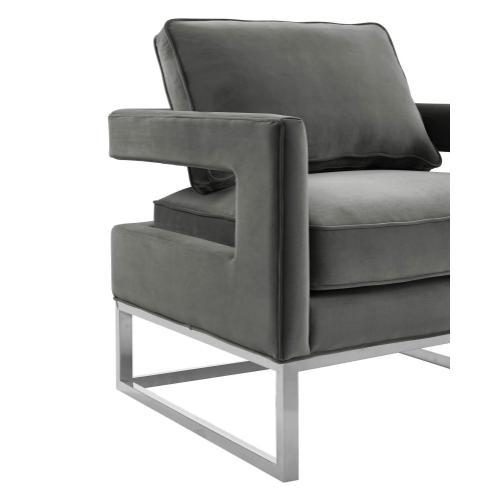 Tov Furniture - Avery Grey Velvet Chair
