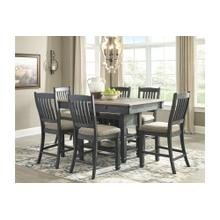 See Details - Tyler Creek Rectangular Counter Height Dining Room Set: Table & 6 Chairs