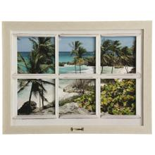 See Details - Grenada 13  Made in USA  Window Motif Traditional Coastal Wall Art with Handle  Framed Print Unde