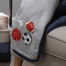 Hall of Fame Sports Jersey/Sherpa Cozy Baby Blanket