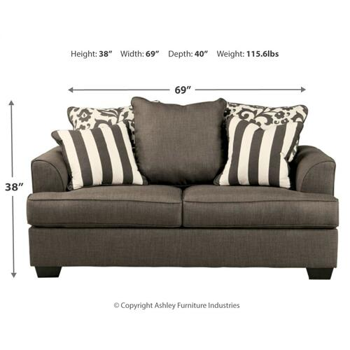 Levon Loveseat Charcoal