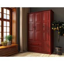 See Details - 5692 - 100% Solid Wood Grand Wardrobe - Mahogany