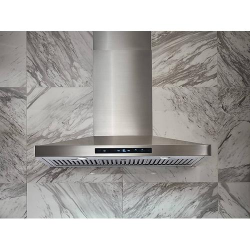 """Gallery - 36"""" Chef Collection Wall Mount Hood in Stainless Steel"""
