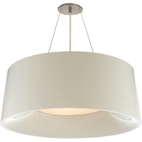 Visual Comfort BBL5090I Barbara Barry Halo 3 Light 28 inch Ivory Hanging Shade Ceiling Light, Medium