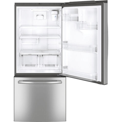 GE 20.9 cu.ft. Bottom Freezer Refrigerator Stainless Steel GDE21ESKSS