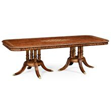 "Burl & mother of pearl 94 1/2"" rectangular dining table"