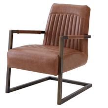 View Product - Jonah KD PU Accent Arm Chair, Antique Cigar Brown