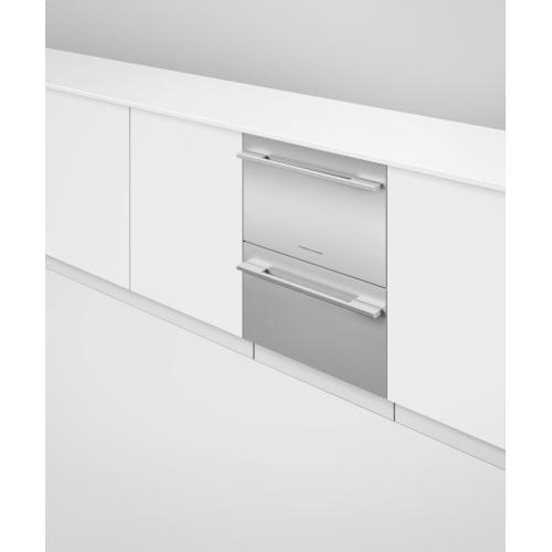 Integrated Double DishDrawer Dishwasher, Sanitize