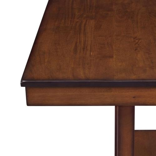 Gallery - Pendwood Counter Height Table and Four Chairs Set, Dark Cherry Brown