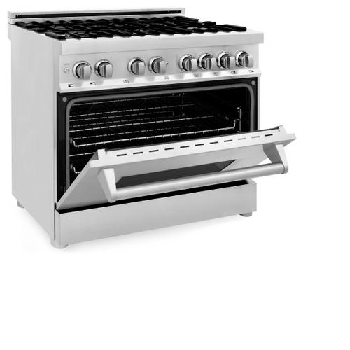 "ZLINE 36"" Professional Stainless Steel 4.6 cu.ft. 6 Gas Burner/Electric Oven Range (RA36)"