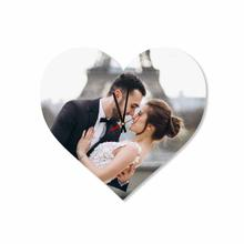 Custom Wedding Pictures Heart Acrylic Wall Clock