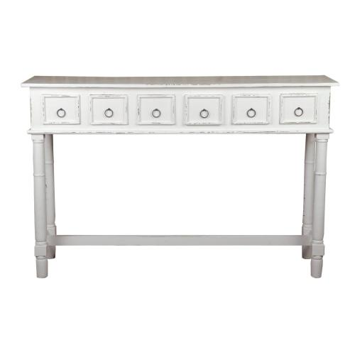CC-TAB1012LD-WW  Six Drawer Console Table