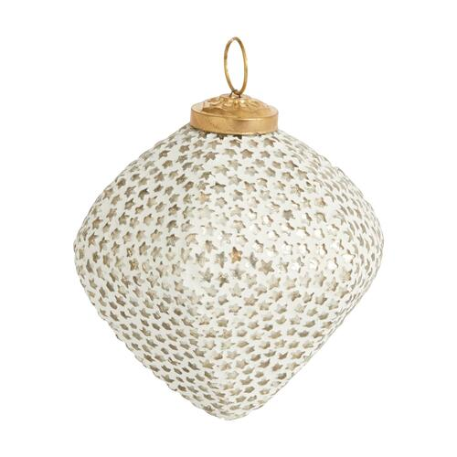 """Product Image - Trimmings Ornament (Size:4""""x 3.75"""", Color:White)"""