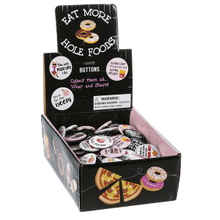 Eat More Hole Foods - Buttons in Display (60 pc. ppk.)