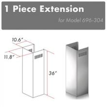 ZLINE 1 Piece Chimney Extension for 10ft Ceiling (1PCEXT-696-304)