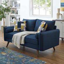 See Details - Revive Upholstered Fabric Loveseat in Azure