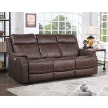 Valencia Dual-Power Leatherette Reclining Sofa, Walnut