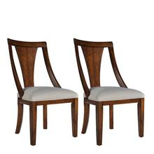 See Details - Insignia 2-Pack Side Chairs with Upholstered Seat, Brown