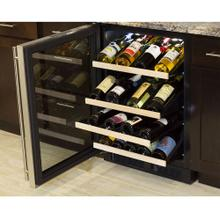24-In Built-In High Efficiency Gallery Single Zone Wine Refrigerator with Door Swing - Left