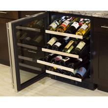 See Details - 24-In Built-In High Efficiency Gallery Single Zone Wine Refrigerator with Door Swing - Left
