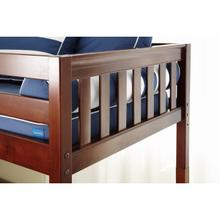 View Product - Traditional Bed w/ Ft Panel (High) : Twin : Chestnut : Slat