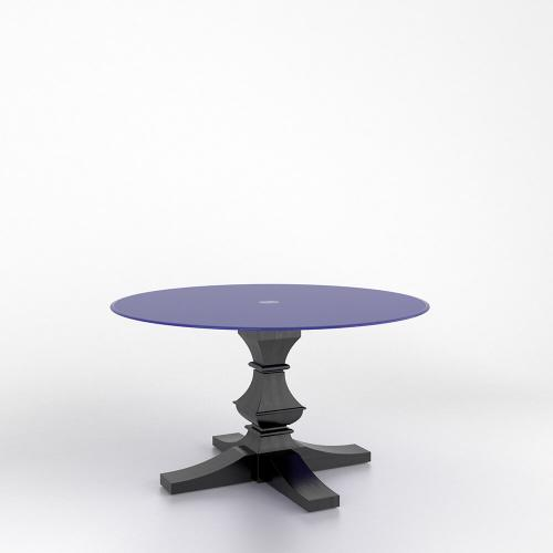 Gallery - Round glass table with pedestal
