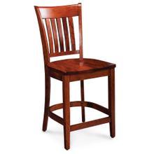 """See Details - Kaskaskia Stationary Barstool, 24"""" Seat Height / Wood Seat"""