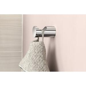 Align brushed nickel single robe hook