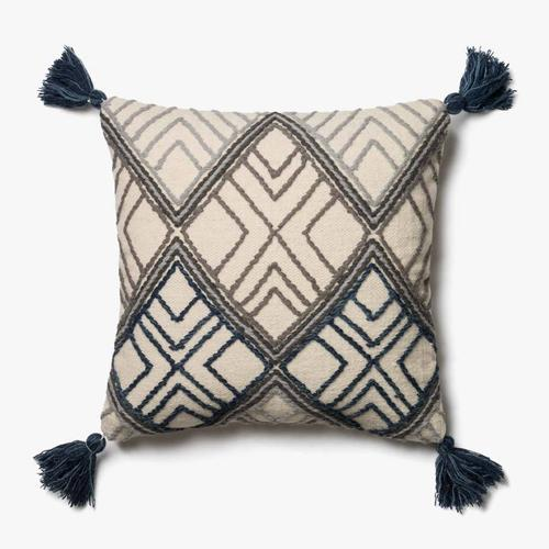 P0425 MH Blue / Ivory Pillow