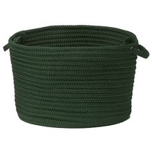 "Simply Home Basket H109 Dark Green 14"" X 10"""