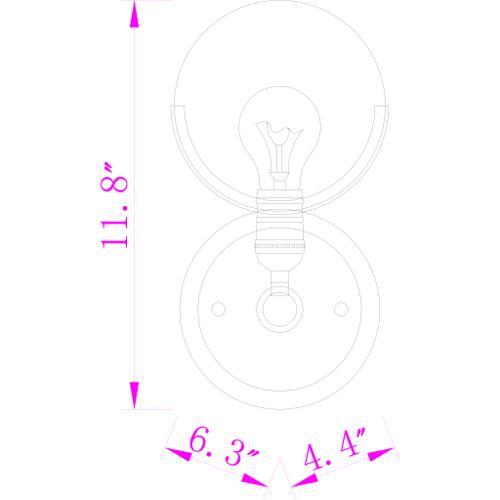 "Surya - Edmund EDM-003 11""H x 6""W x 4""D"