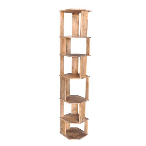 Navarre Mango Wood Narrow Etagere