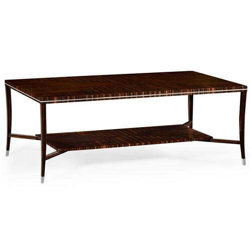 Soho coffee table with white brass detail