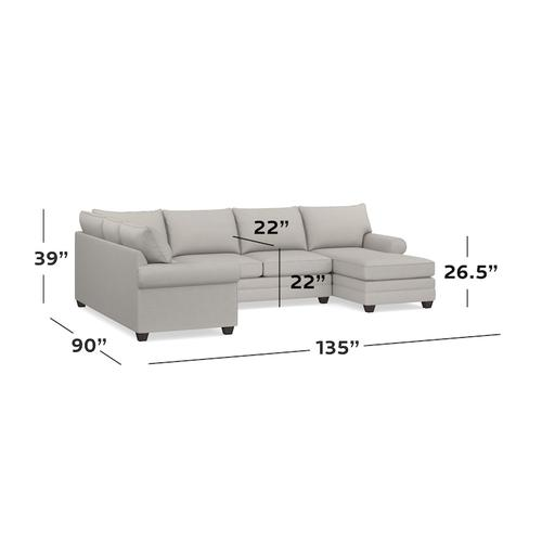 Straw Alexander U-Shaped Sectional