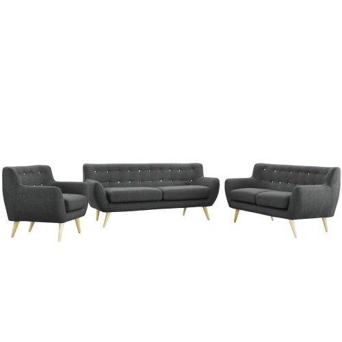 Modway - Remark 3 Piece Living Room Set in Gray