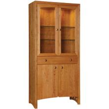 Wood Back, Cherry Highlands Display Cabinet