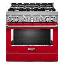 KitchenAid® 36'' Smart Commercial-Style Gas Range with 6 Burners - Panel Ready