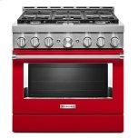 KitchenAid™ 36'' Smart Commercial-Style Gas Range with 6 Burners - Passion Red