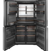Café ENERGY STAR ® 27.4 Cu. Ft. Quad-Door Refrigerator Modern Glass