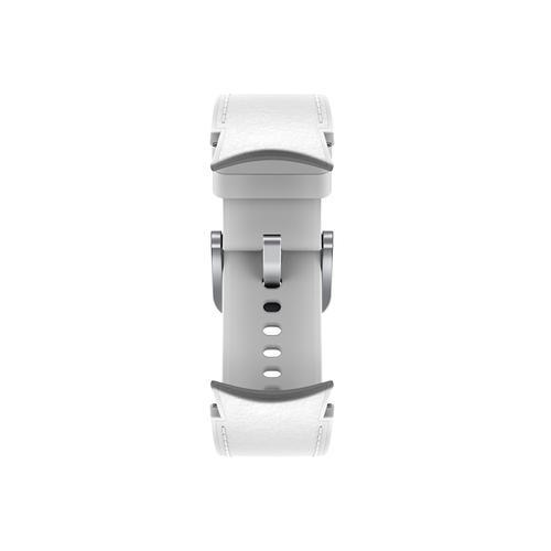 Samsung - Galaxy Watch4, Galaxy Watch4 Classic Hybrid Leather Band, M/L, White