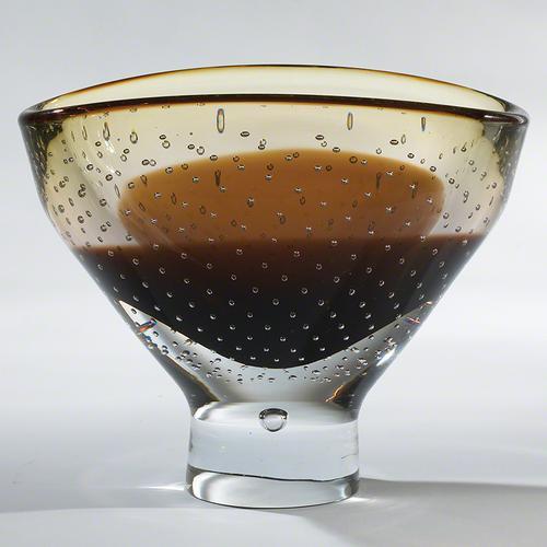 Amber Bubble Bowl